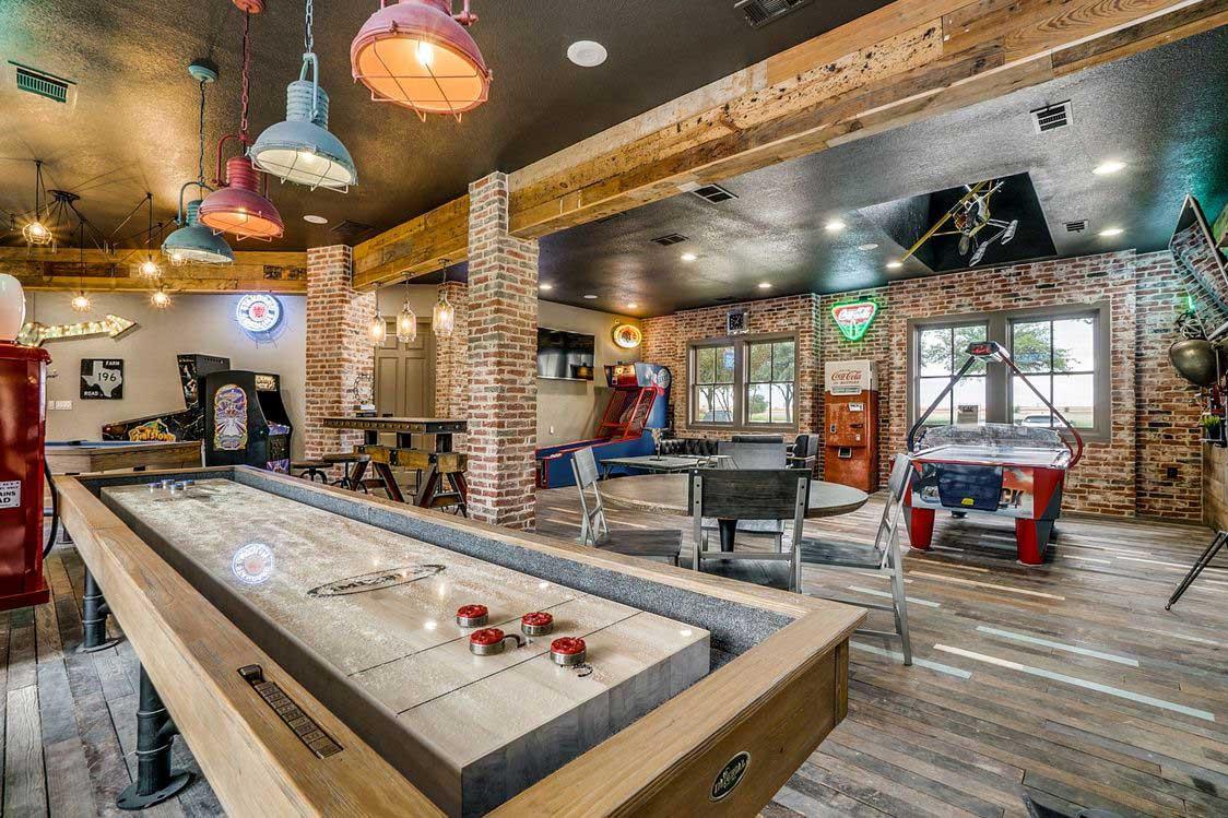 Shuffleboard Table at Hidden Lakes Apartments in Haltom City, Texas
