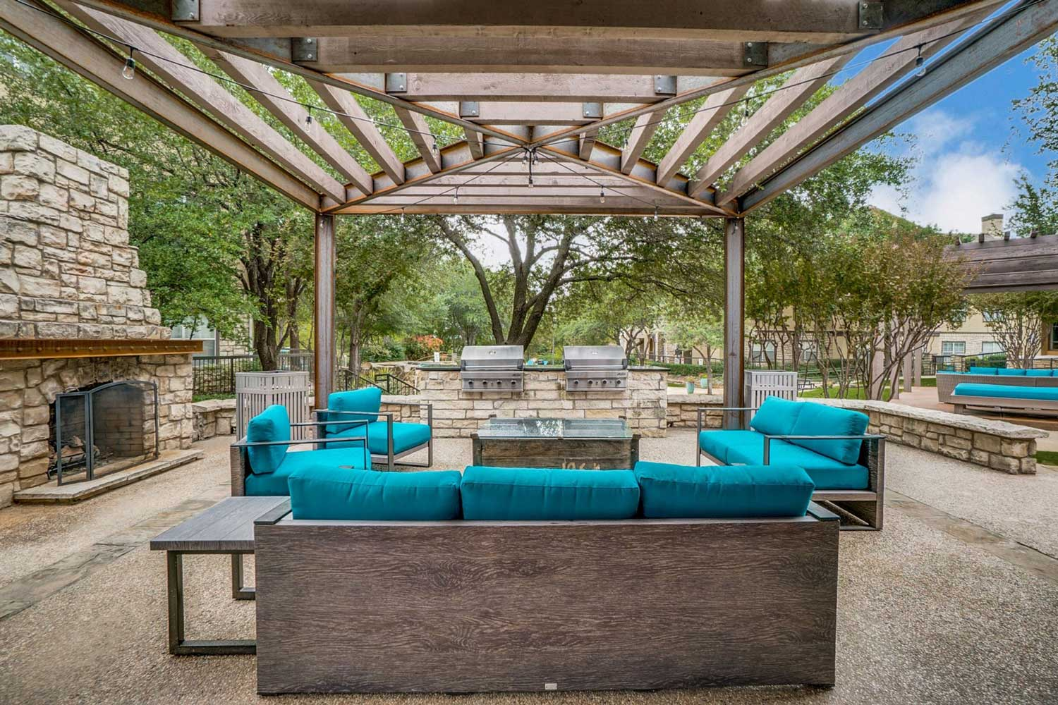 Fireside Lounge at Hidden Lakes Apartments in Haltom City, Texas