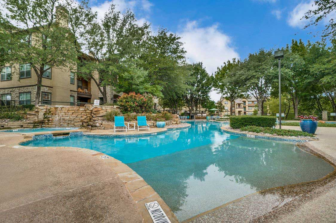 Outdoor Swimming Pool at Hidden Lakes Apartments in Haltom City, Texas