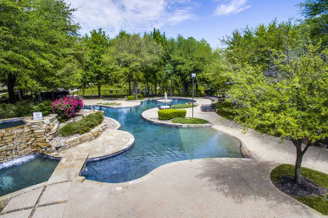 Resort-Style Swimming Pool at Hidden Lakes Apartments in Haltom City, Texas