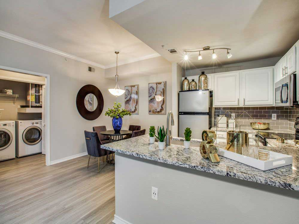 Stainless Steel Appliances at Hidden Lakes Apartments in Haltom City, Texas