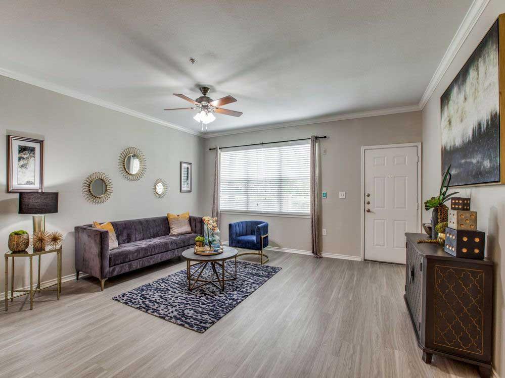 Open Living Area at Hidden Lakes Apartments in Haltom City, Texas