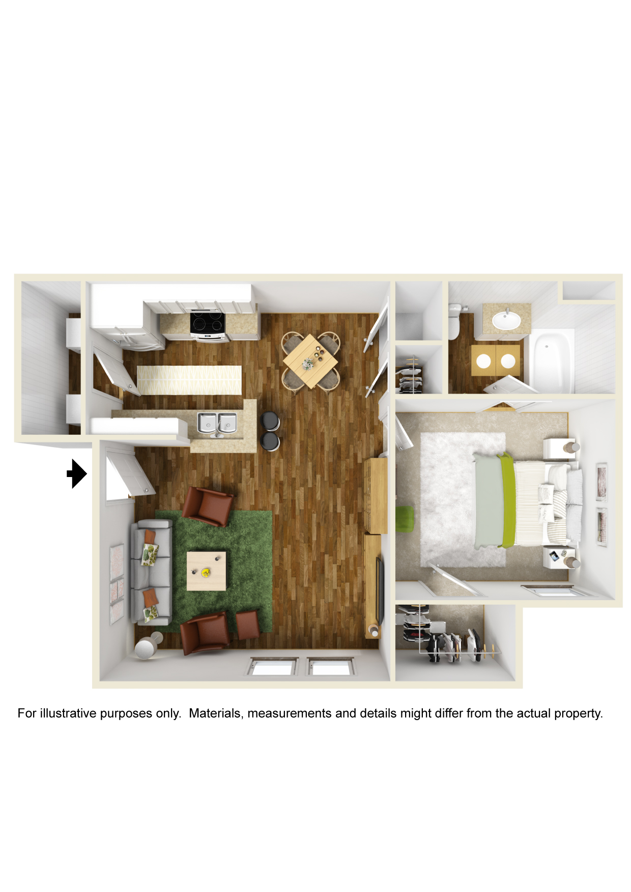 Highland Crossing Apartments - Floorplan - Unit A1