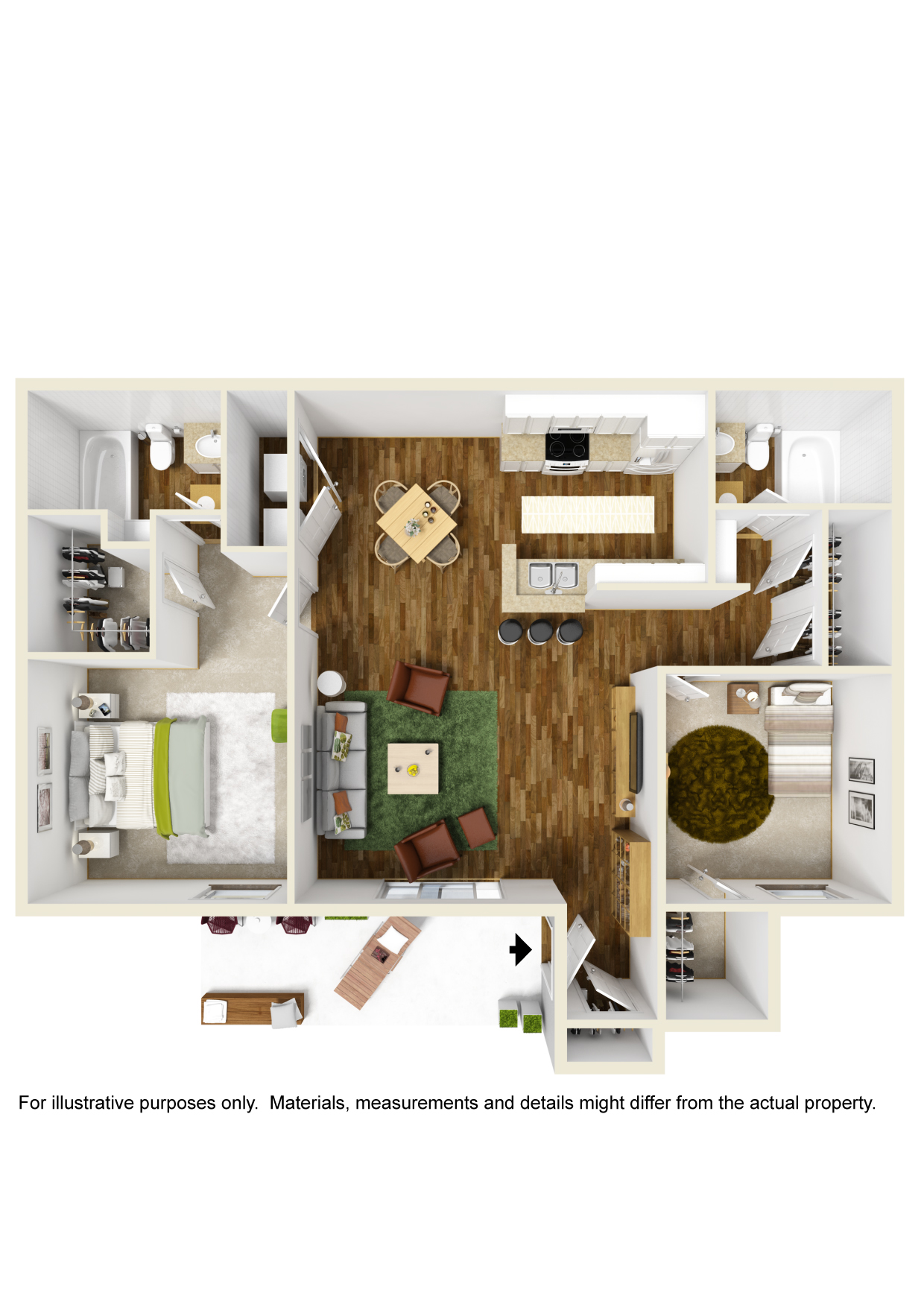 Highland Crossing Apartments - Floorplan - Unit B2