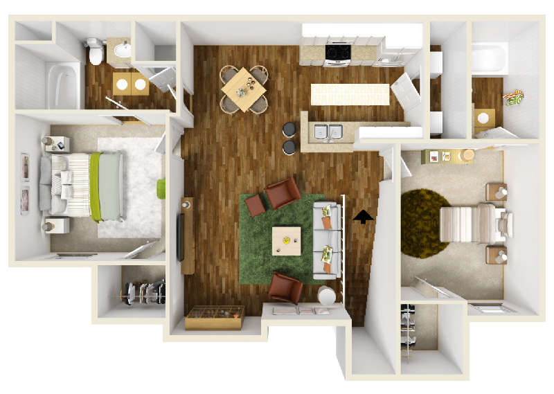 Floorplan - Unit B1 image
