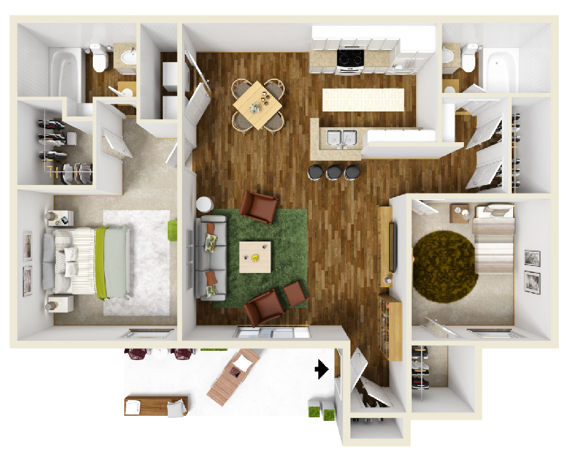 Floorplan - Unit B2 image