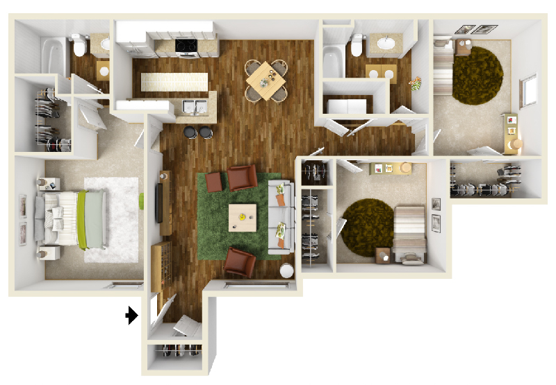 Highland Crossing Apartments - Floorplan - Unit C2