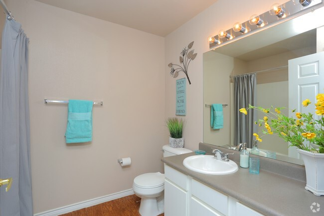 Guest Bathroom at the Highland Crossing Apartments in Tulsa, OK