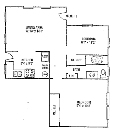 Informative Picture of Two Bedroom One Bath