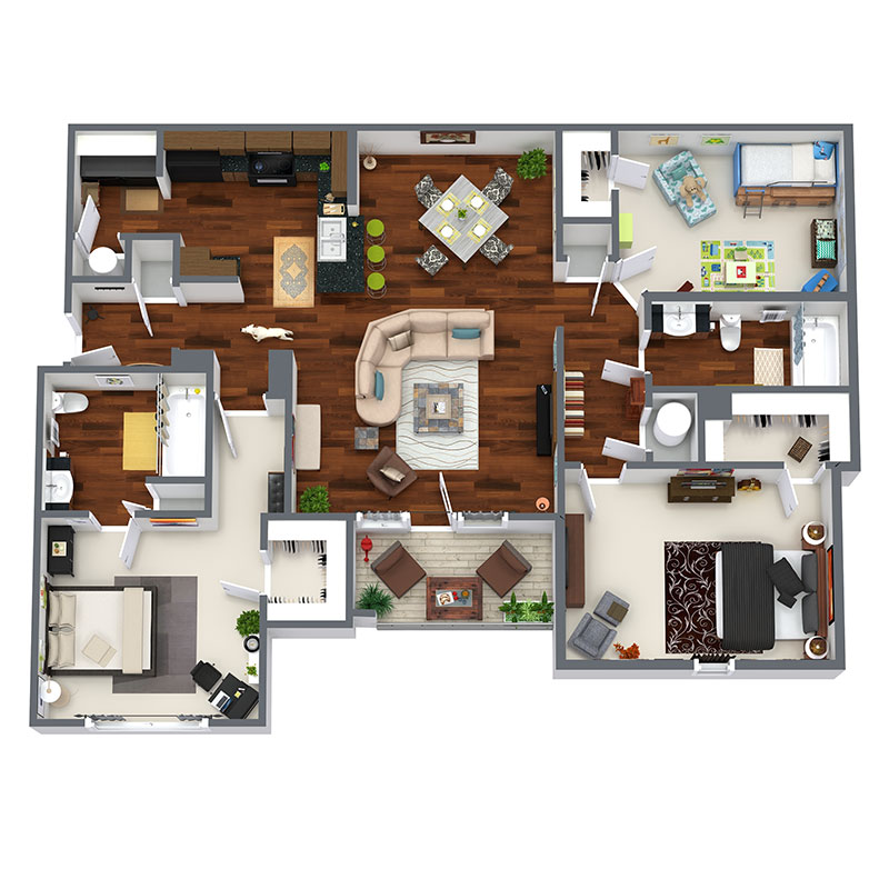 Floorplan - Liberty - Upgraded image