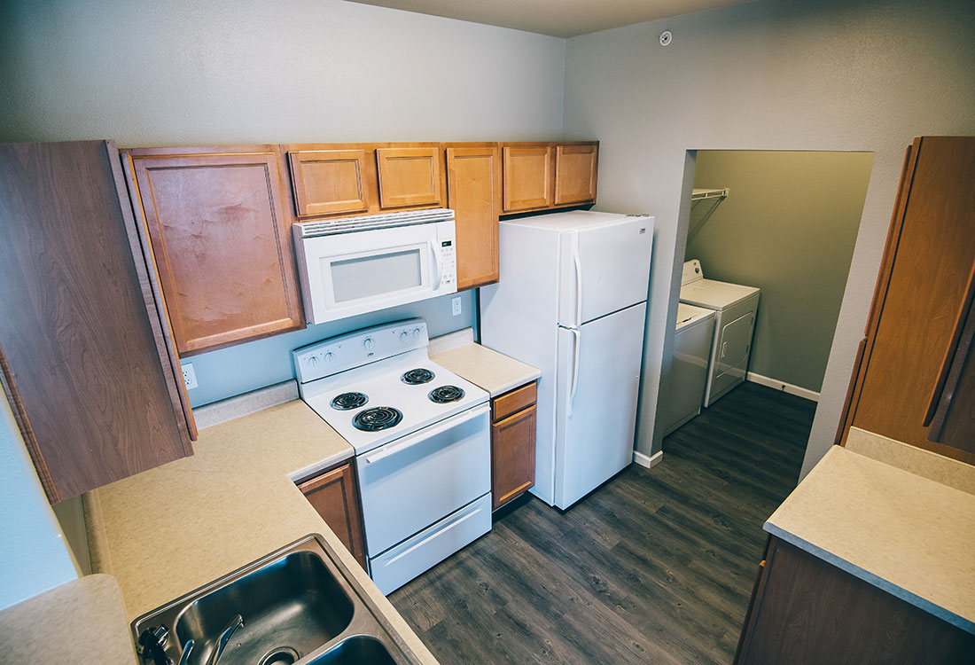 In-Home Washer and Dryer at Highland Ridge Apartments in Manhattan, Kansas