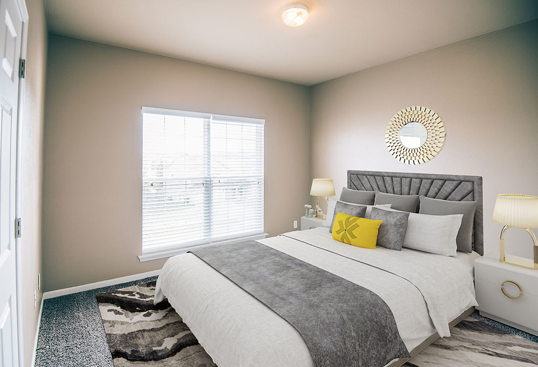 Spacious Bedrooms at Highland Ridge Apartments in Manhattan, Kansas