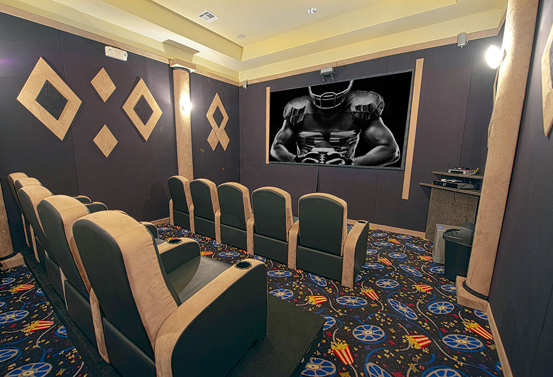Movie Theater at Highland Ridge Apartments in Manhattan, Kansas