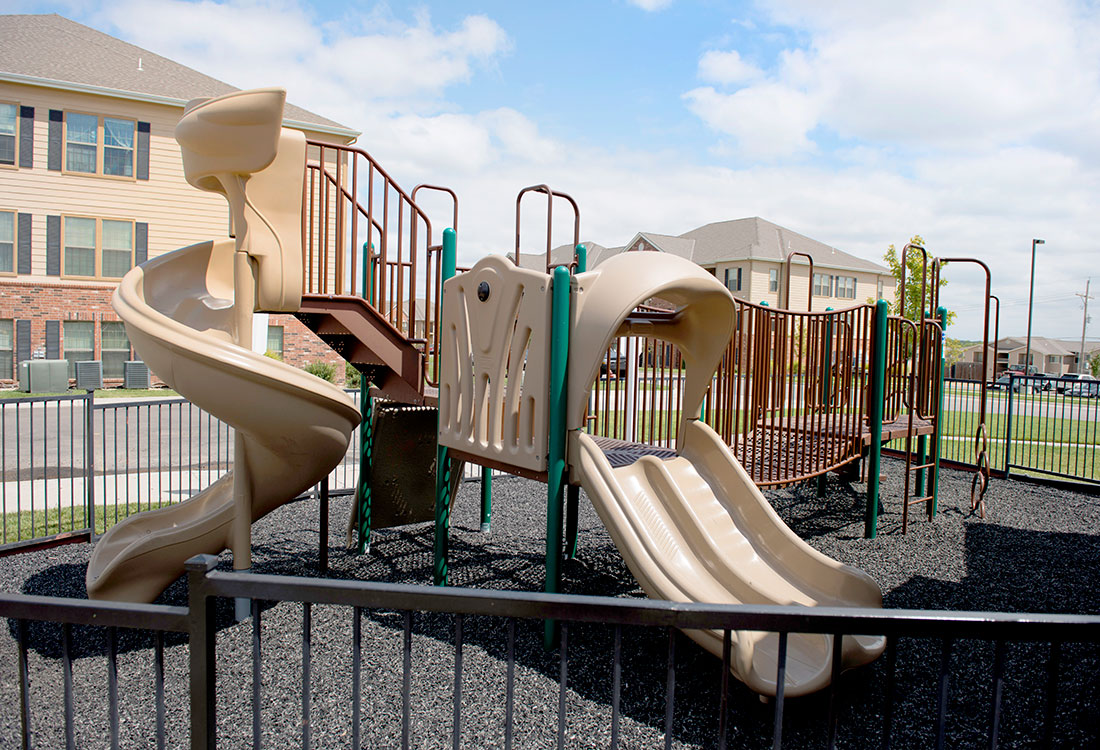 Children's Playground at Highland Ridge Apartments in Manhattan, Kansas