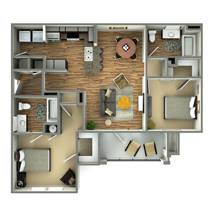 Informative Picture of Empire - 2 Bedroom - Affordable