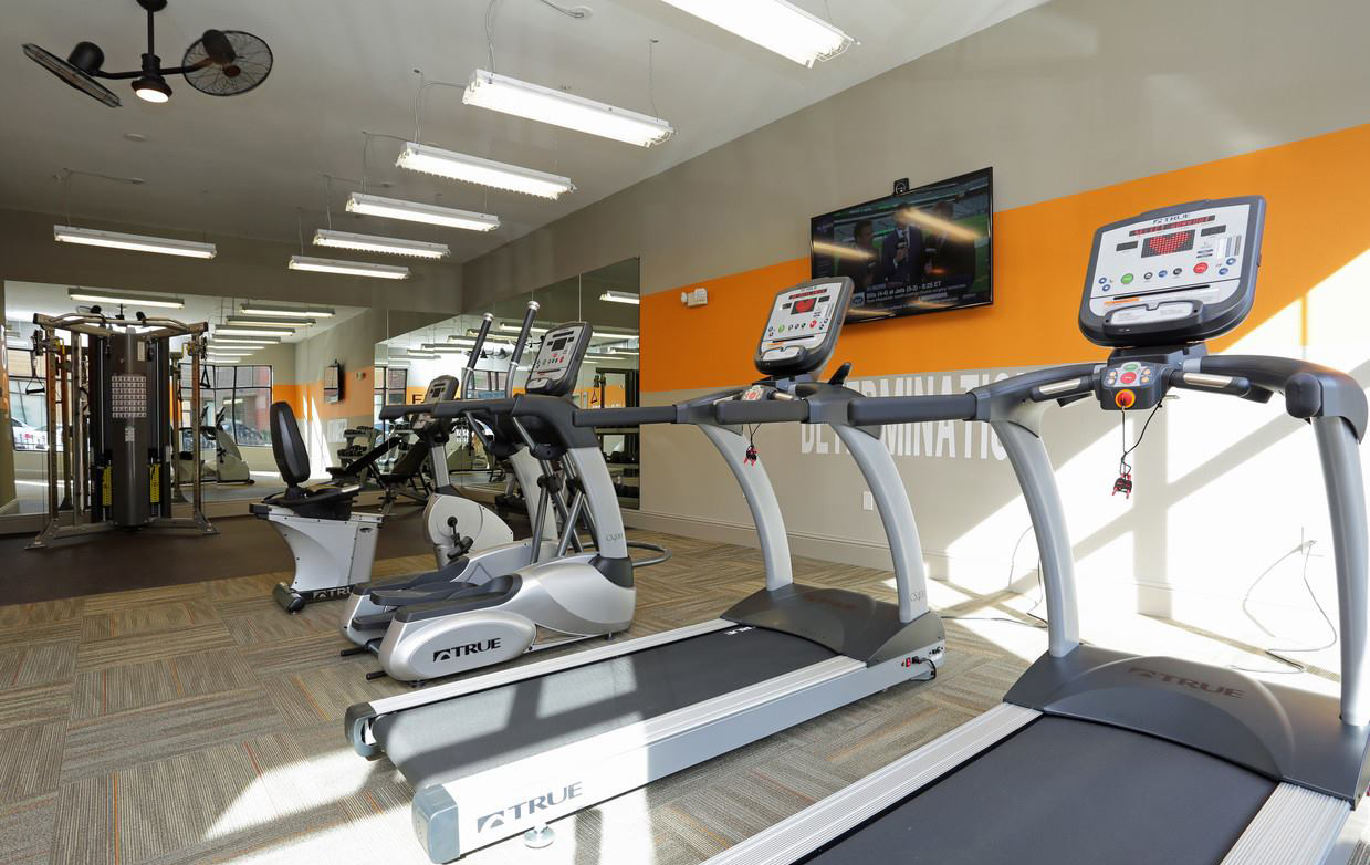 Fitness Center at The District at Highland Village Apartments in Highland Village, TX