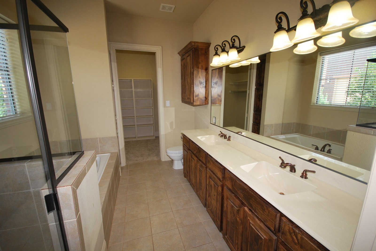 Double Sink Vanity at The District at Highland Village in Heritage Village, TX