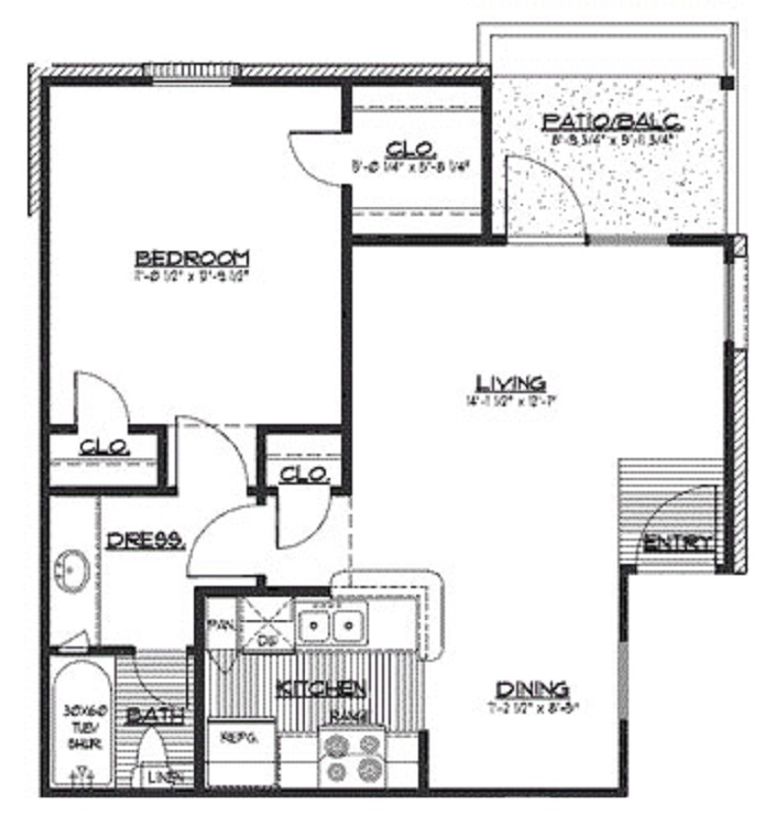 HollyView Apartments - Floorplan - The Birch