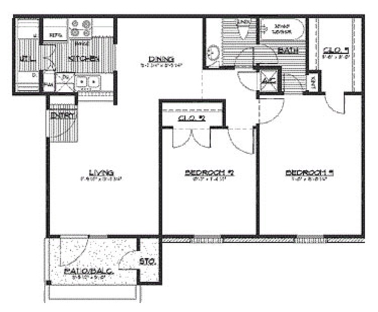HollyView Apartments - Floorplan - The Darlington