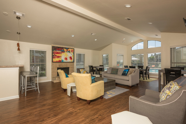 Clubhouse Lounge at HollyView Apartments