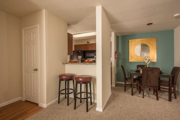 Coat Closet and Dining Area