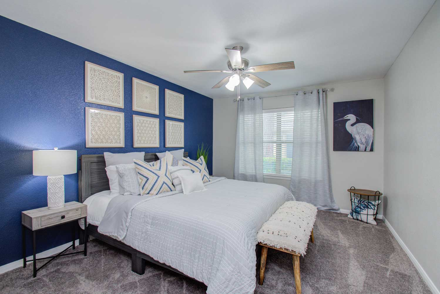 Bedroom at HollyView Apartments in Houston, TX