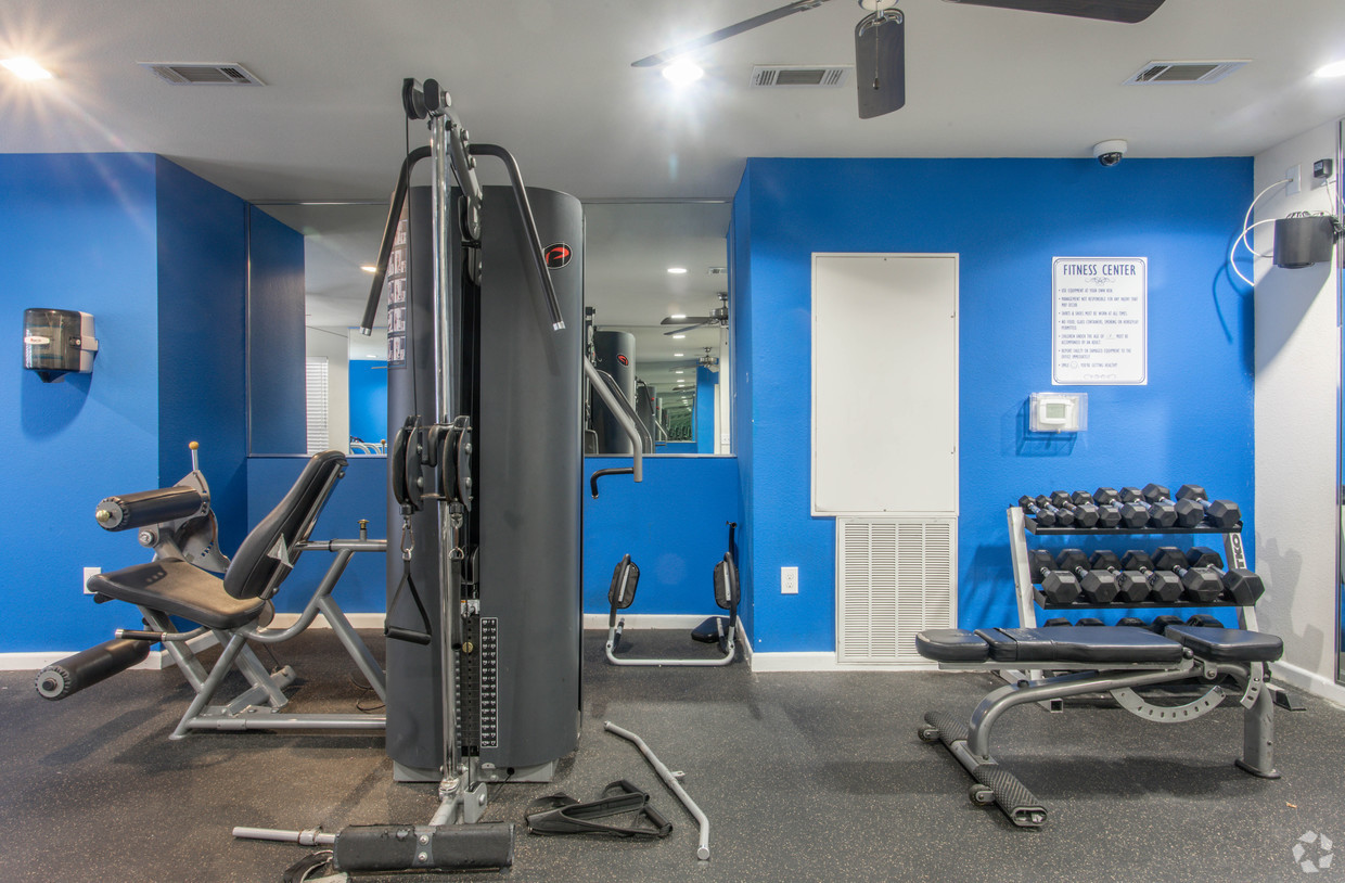 Fitness Center with free weights and a cable machine at Holly View