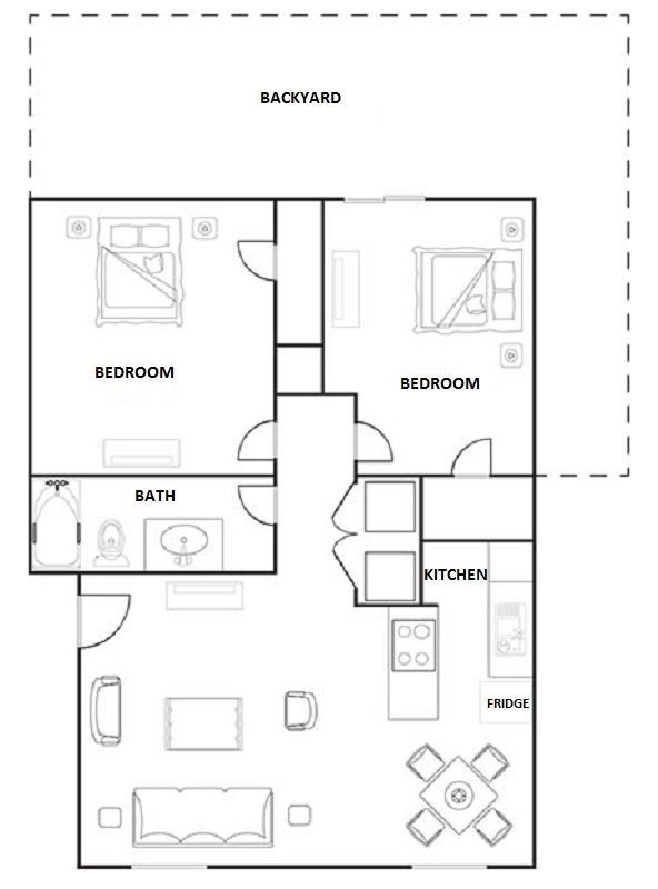 Floorplan - 2 Bedroom Duplex image