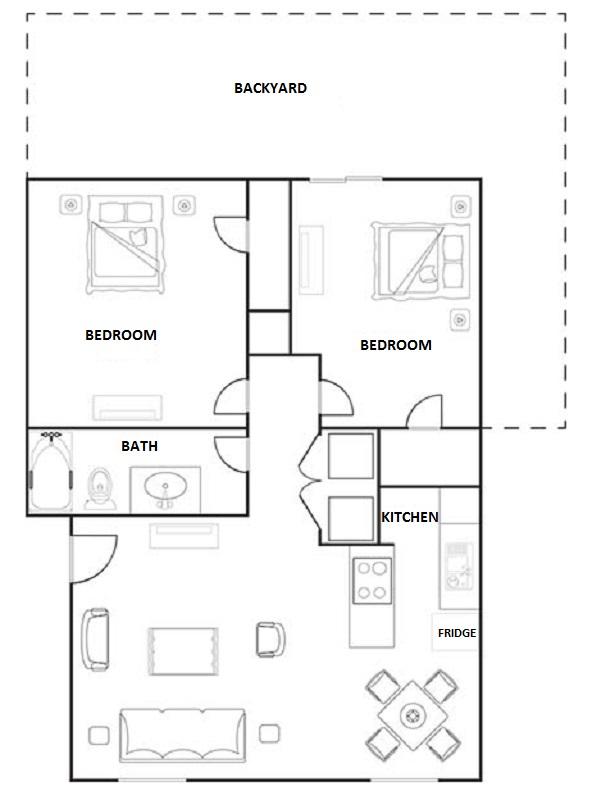 Hunters Point Apartments - Floorplan - 2 Bedroom Duplex