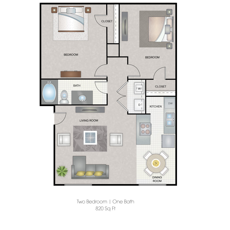 Floorplan - 2 Bedroom image