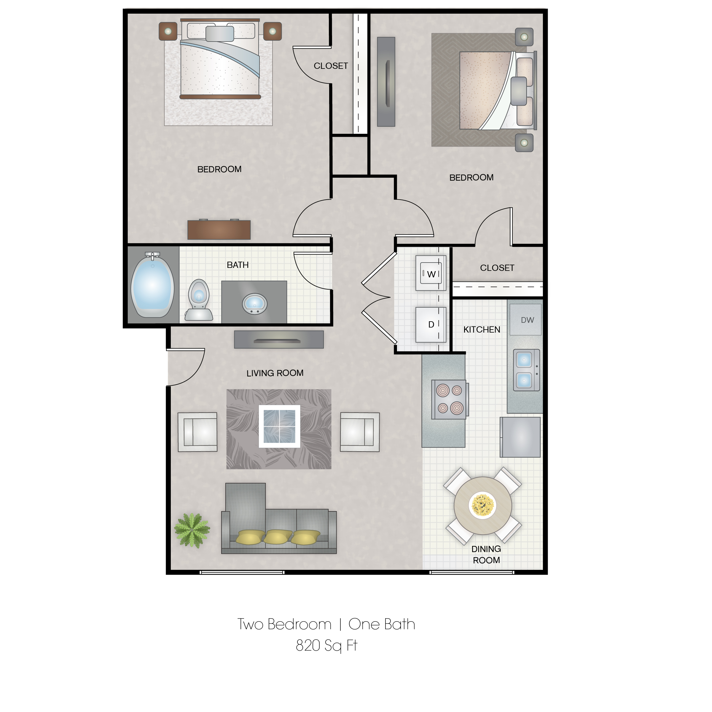 Informative Picture of 2 Bedroom