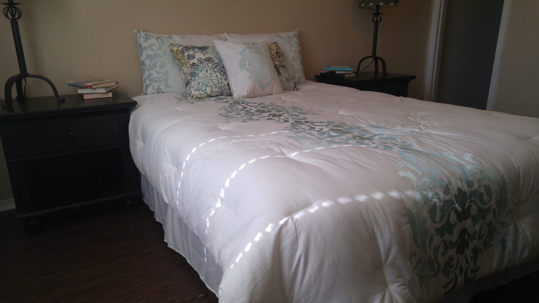 Bedroom at The Hunters Point Apartments in College Station, TX