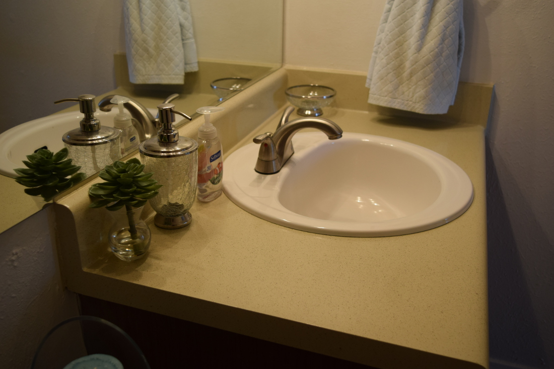 Bathroom at The Hunters Point Apartments in College Station, TX