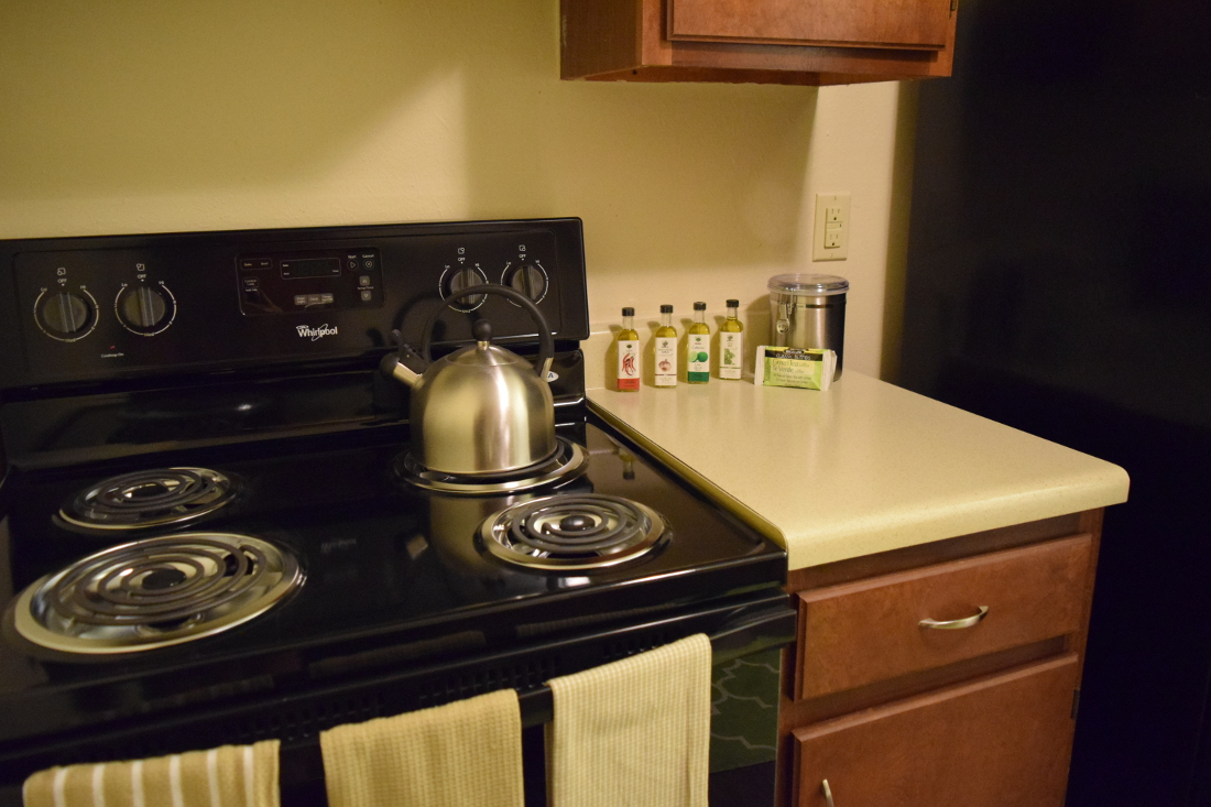 Kitchen at The Hunters Point Apartments in College Station, TX