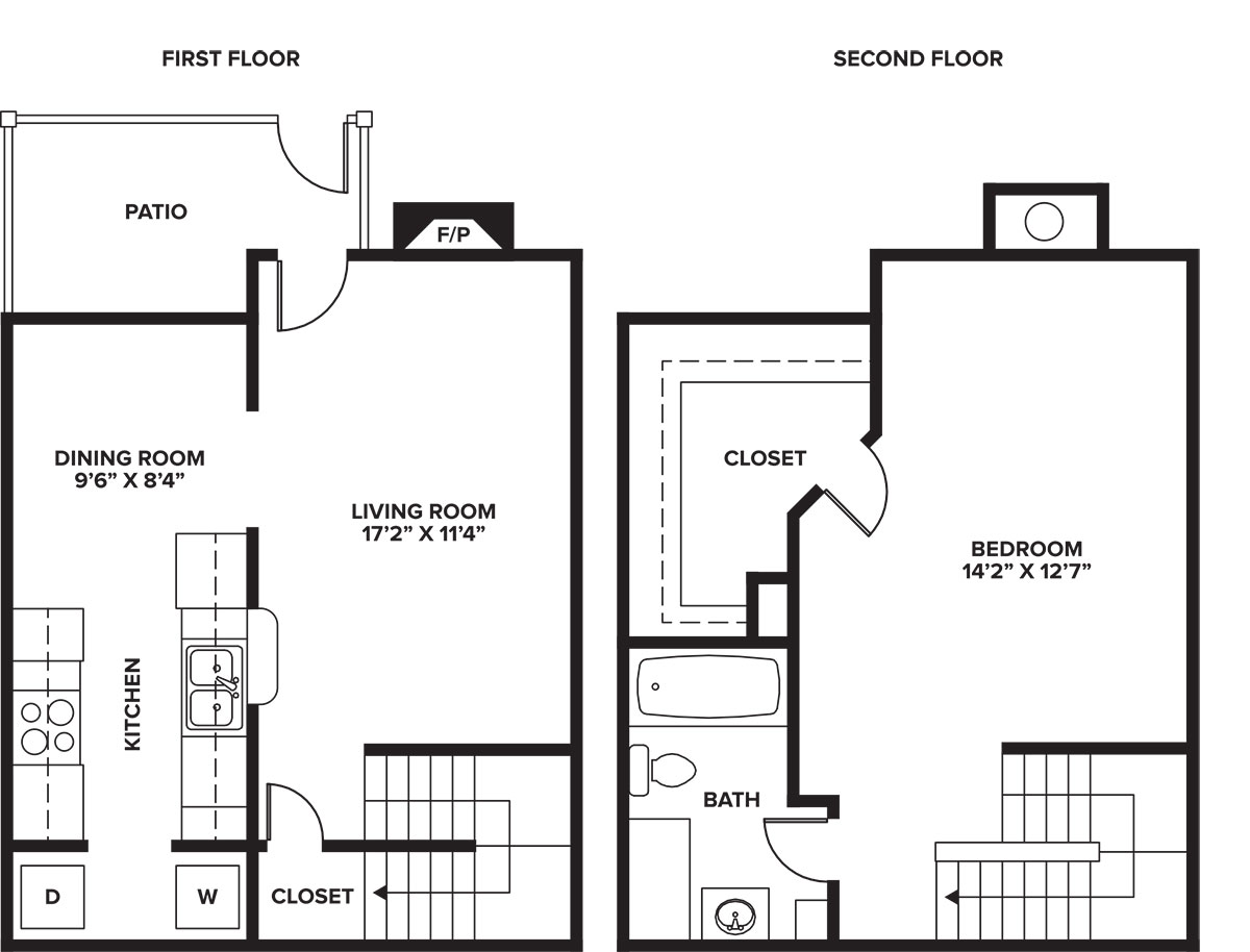 Floorplan - 1-1 C  - Townhome image
