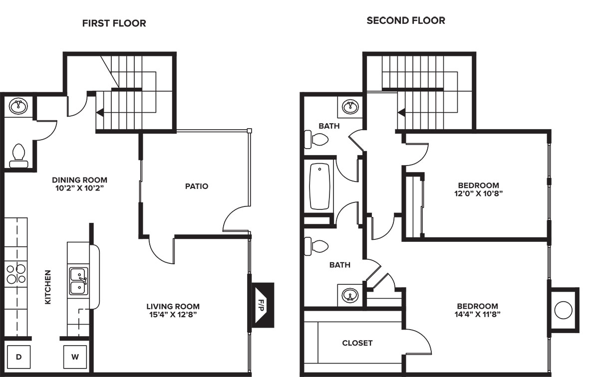 Floorplan - 2-2 C - Townhome image