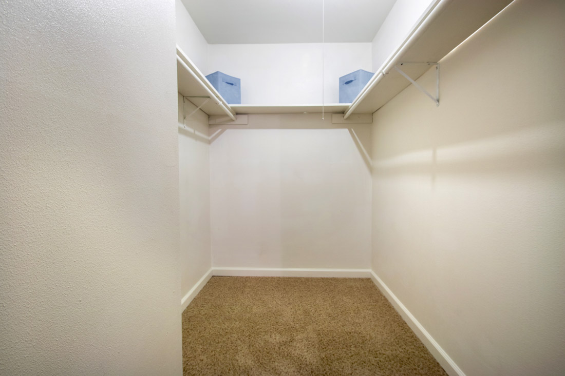 Walk-In Closets at Indian Run Apartments in Abilene, TX