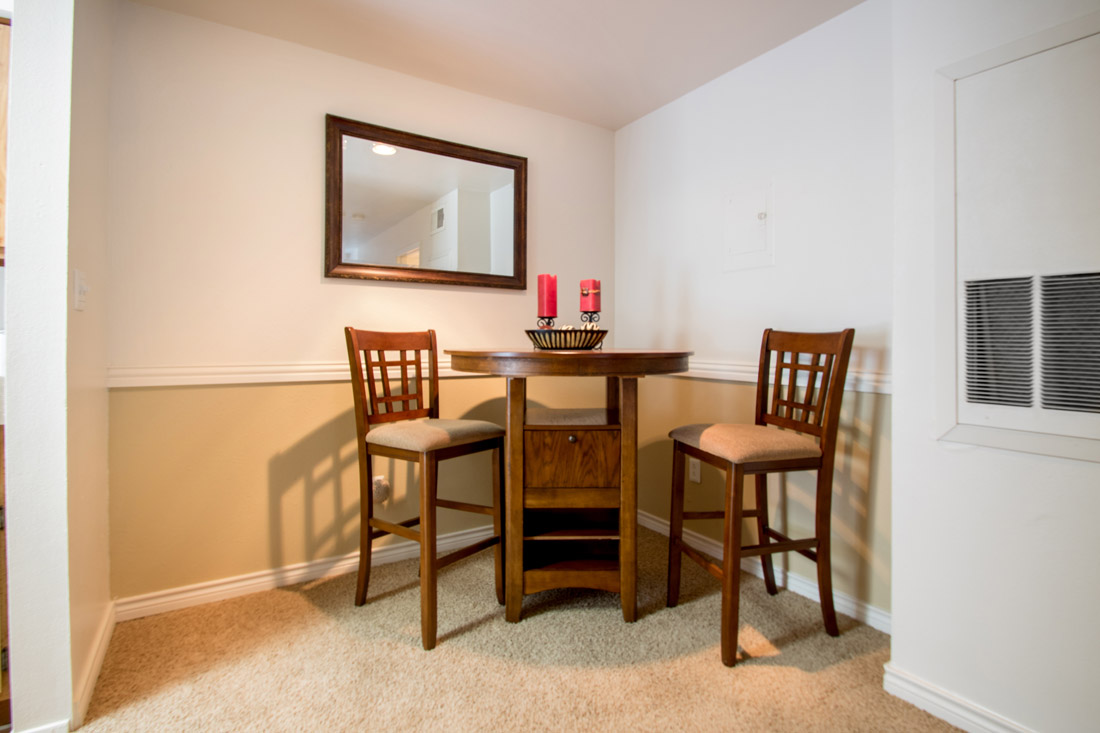 Separate Dining Area at Indian Run Apartments in Abilene, TX