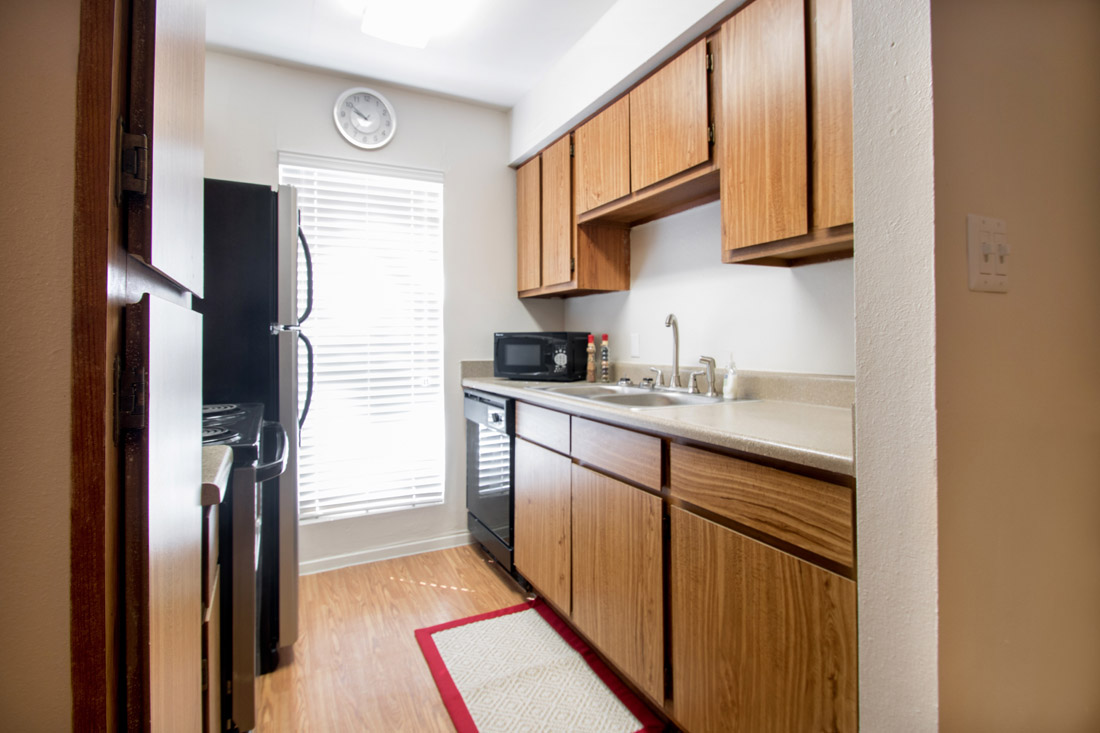 Fully-Equipped Kitchens at Indian Run Apartments in Abilene, TX
