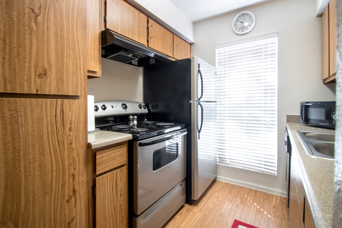 Stainless Kitchen Appliances at Indian Run Apartments in Abilene, TX