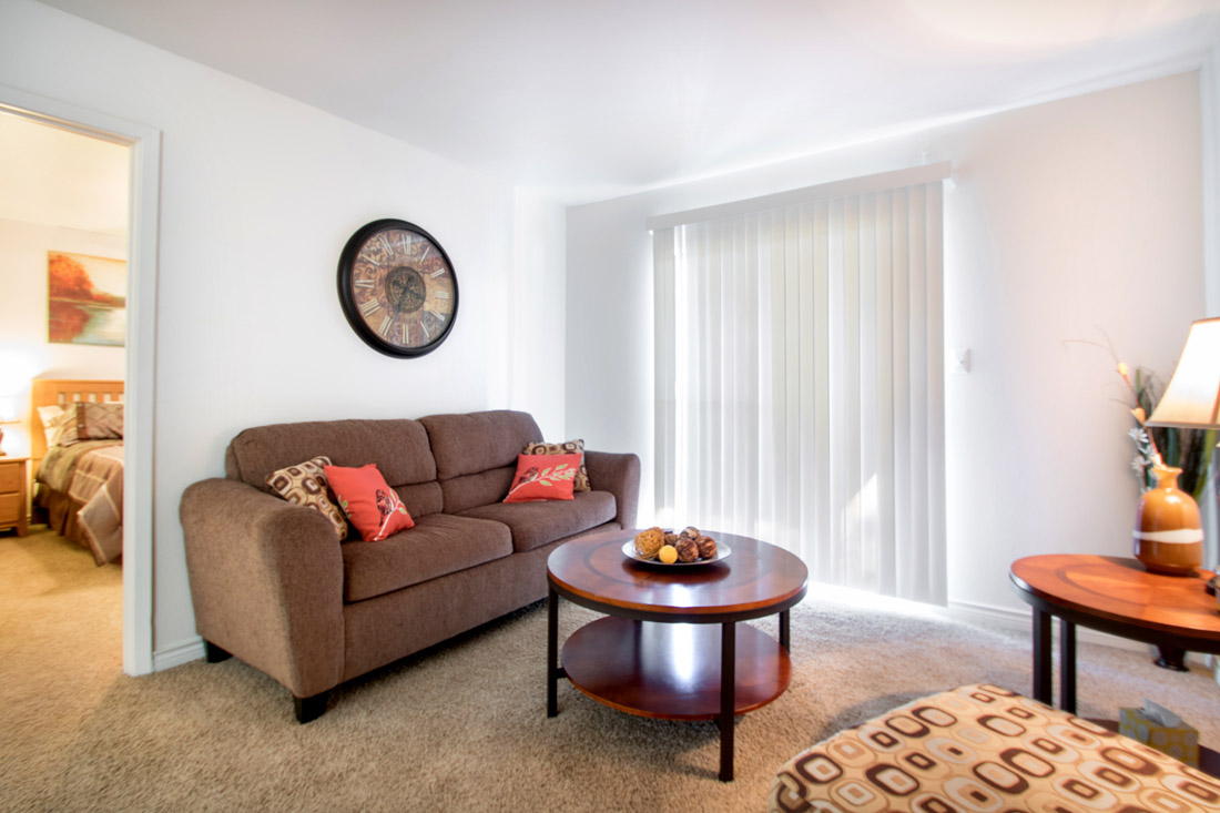 Large Living Rooms at Indian Run Apartments in Abilene, TX