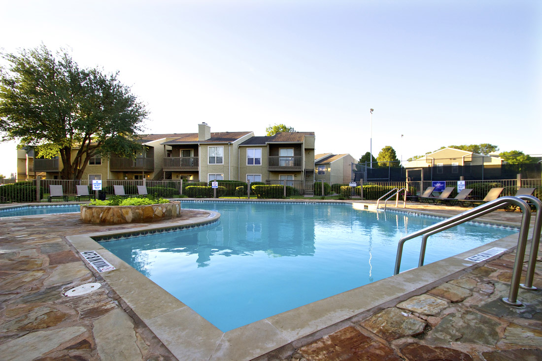 Resort-Style Swimming Pool at Indian Run Apartments in Abilene, TX