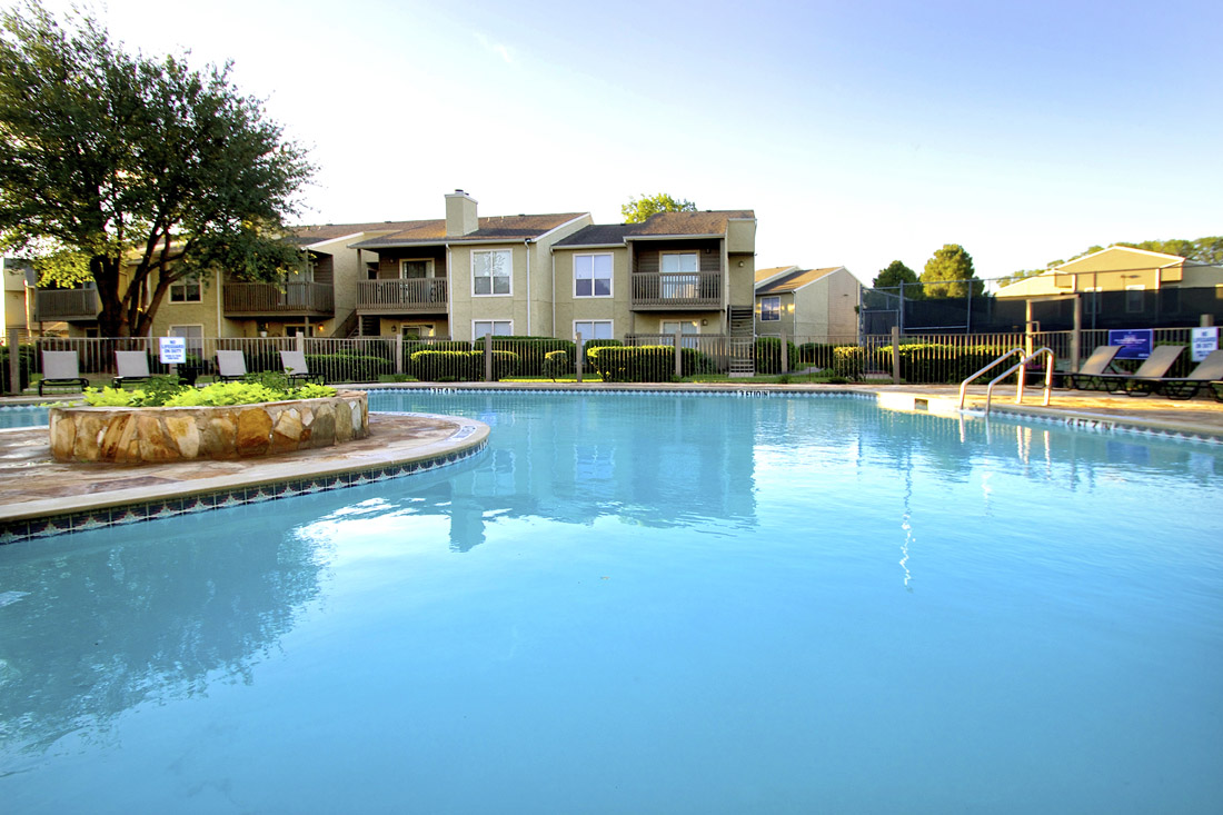 Large Outdoor Swimming Pool at Indian Run Apartments in Abilene, TX