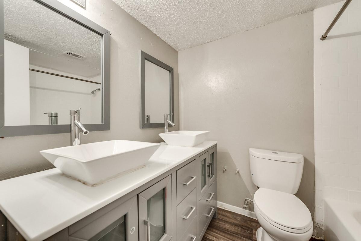 Refined Bathrooms at Indigo Apartments in Dallas, TX