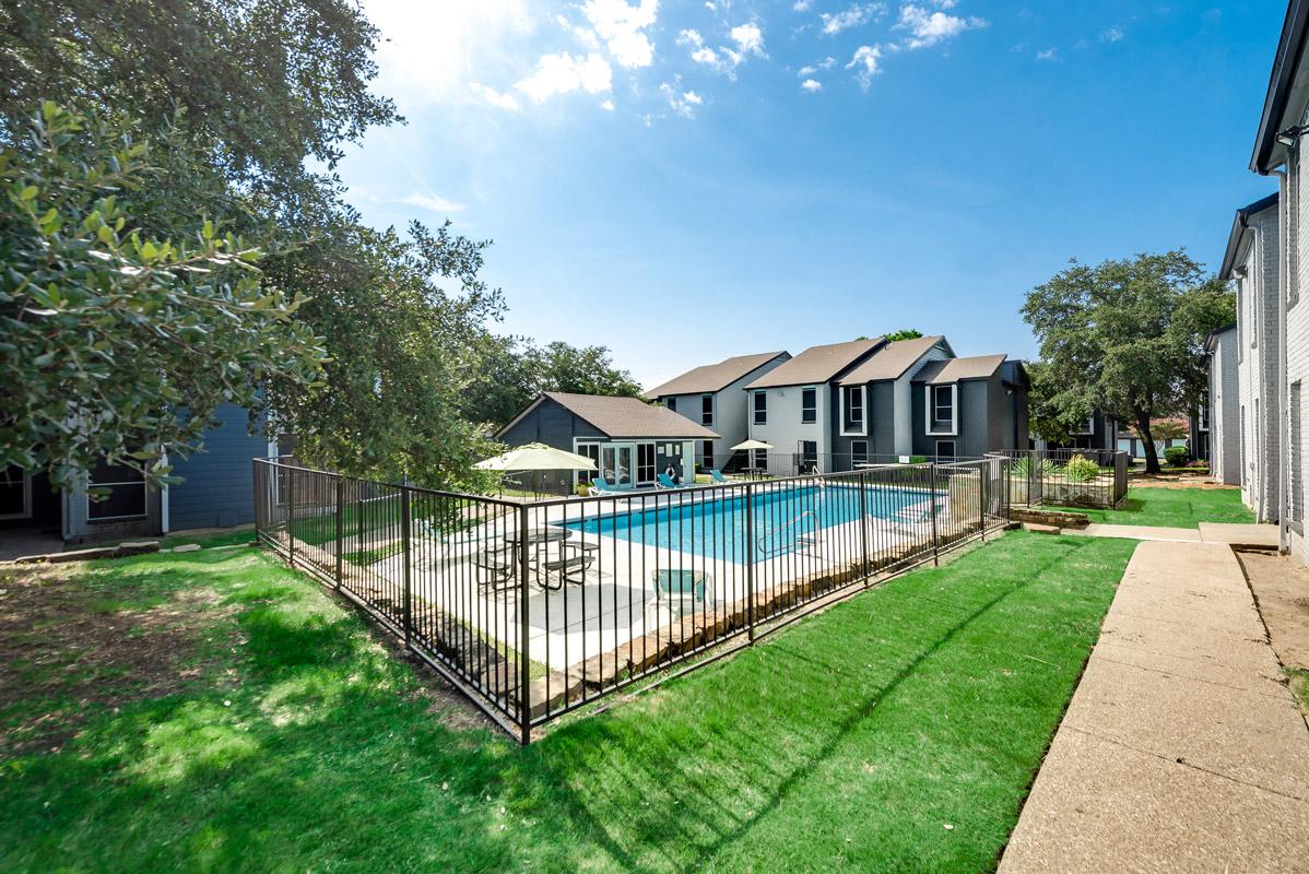 Gated Pool Area at Indigo Apartments in Dallas, TX