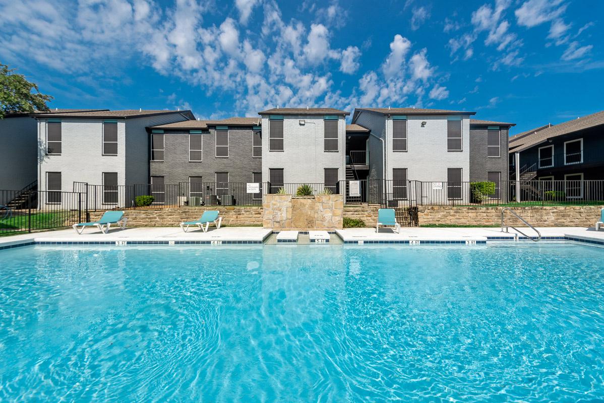 Sparkling Pool at Indigo Apartments in Dallas, TX