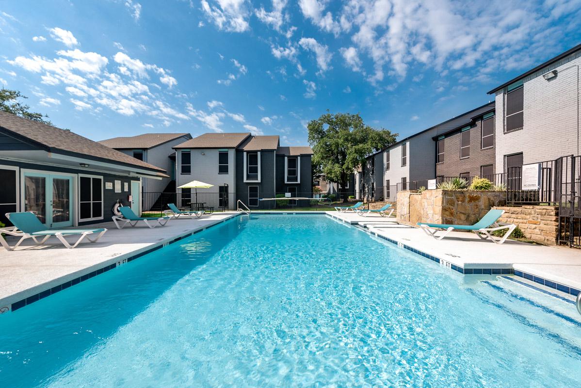 Large Swimming Pool at Indigo Apartments in Dallas, TX