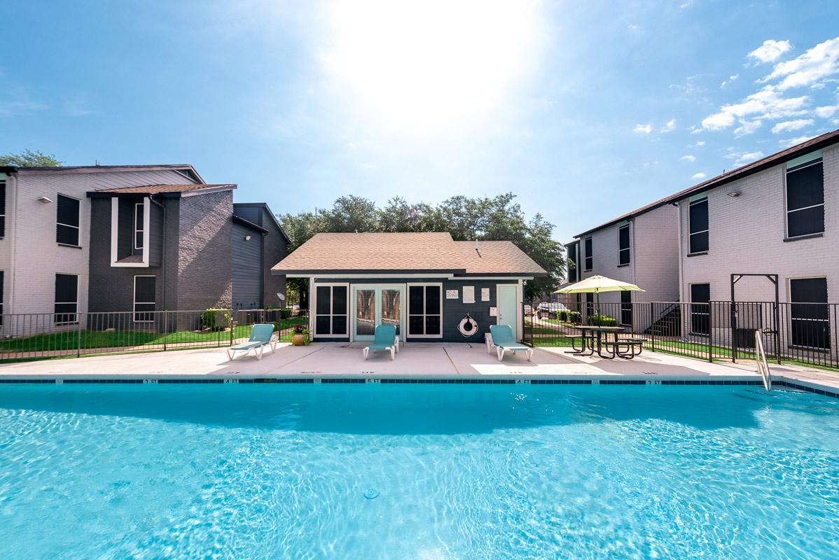 Outdoor Pool at Indigo Apartments in Dallas, TX