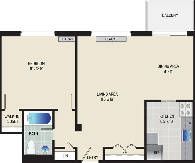 Iverson Towers & Anton House Apartments - Apartment 434311-1108-D