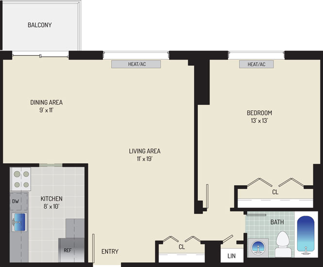 Iverson Towers & Anton House Apartments - Apartment 434311-0911-F